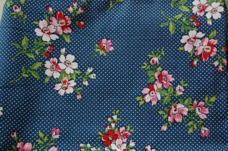 Waverly Blue Floral Dot