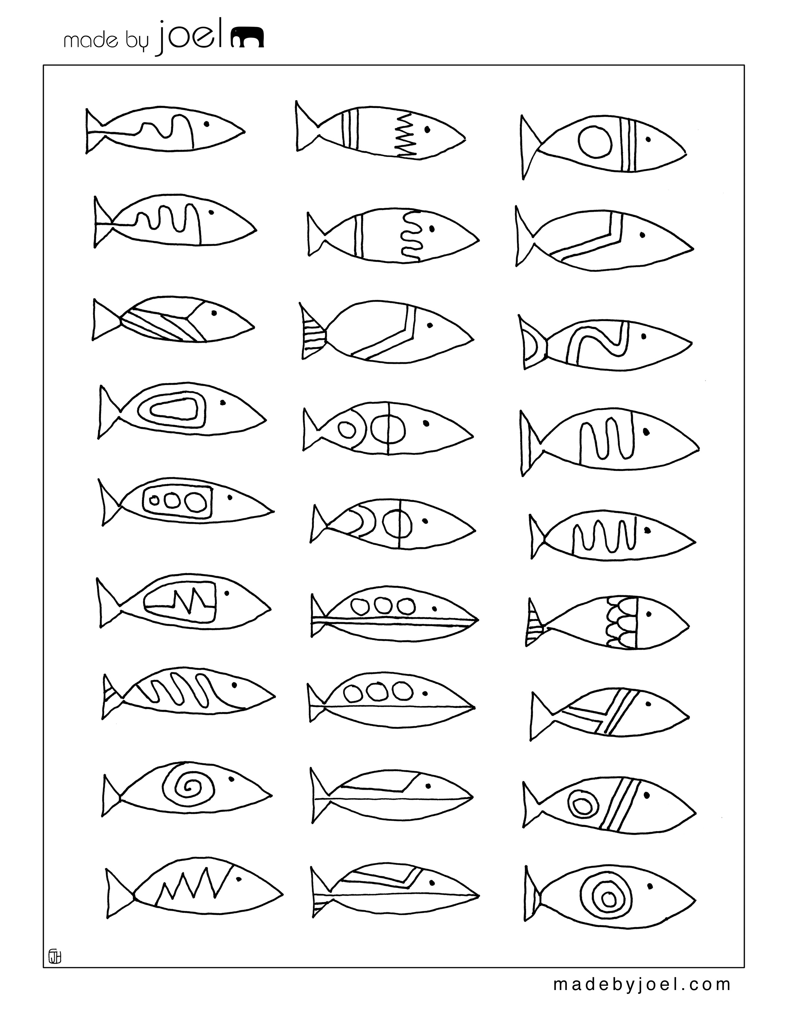 Fish Designs Made By Joel
