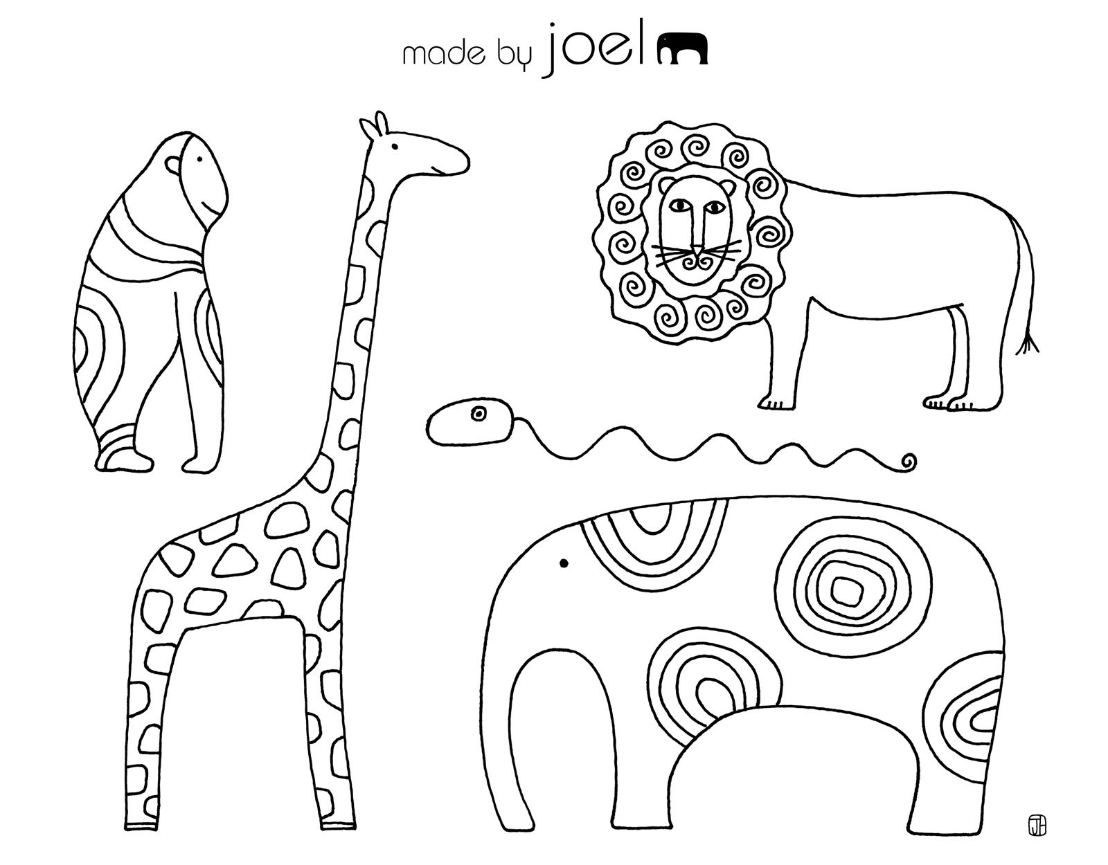 Free Coloring Sheets Made By Joel