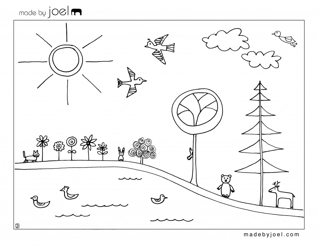 Earth Day Coloring Sheet Made By Joel