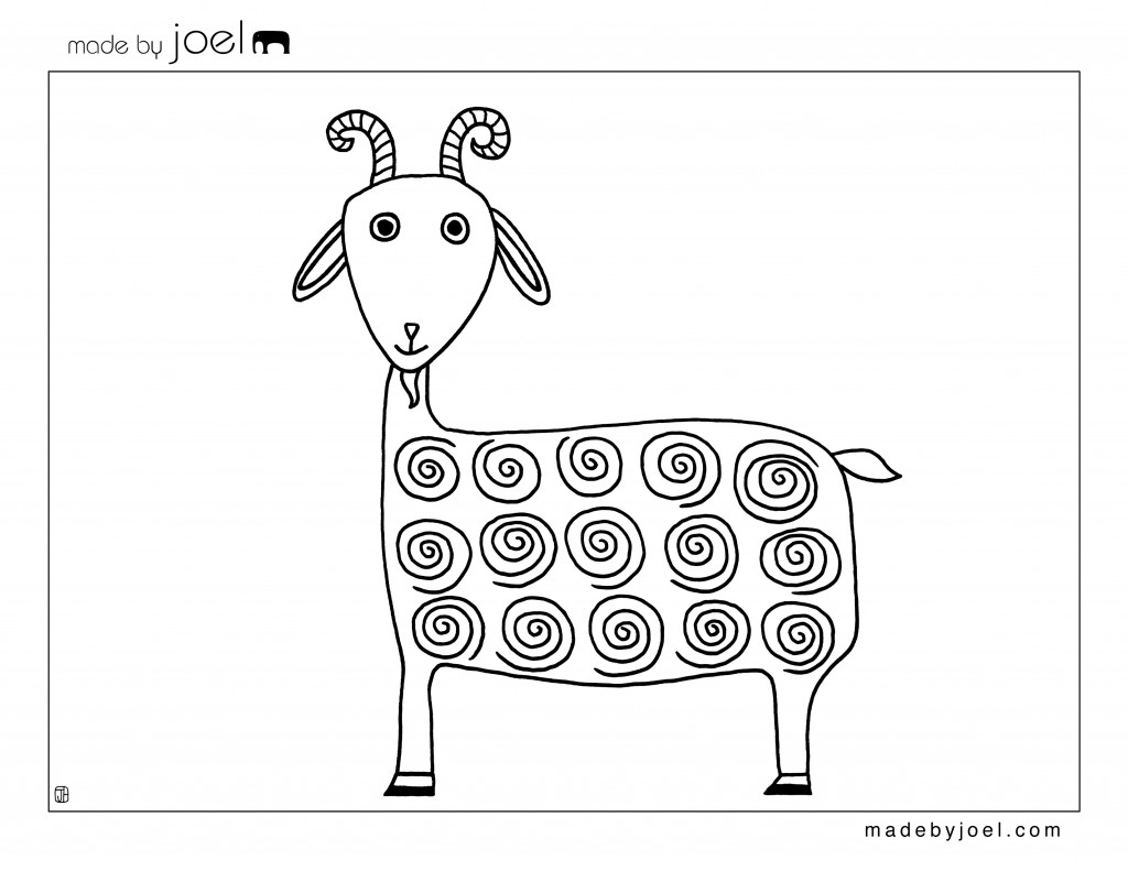 Made By Joel Duck And Goat Coloring Sheets