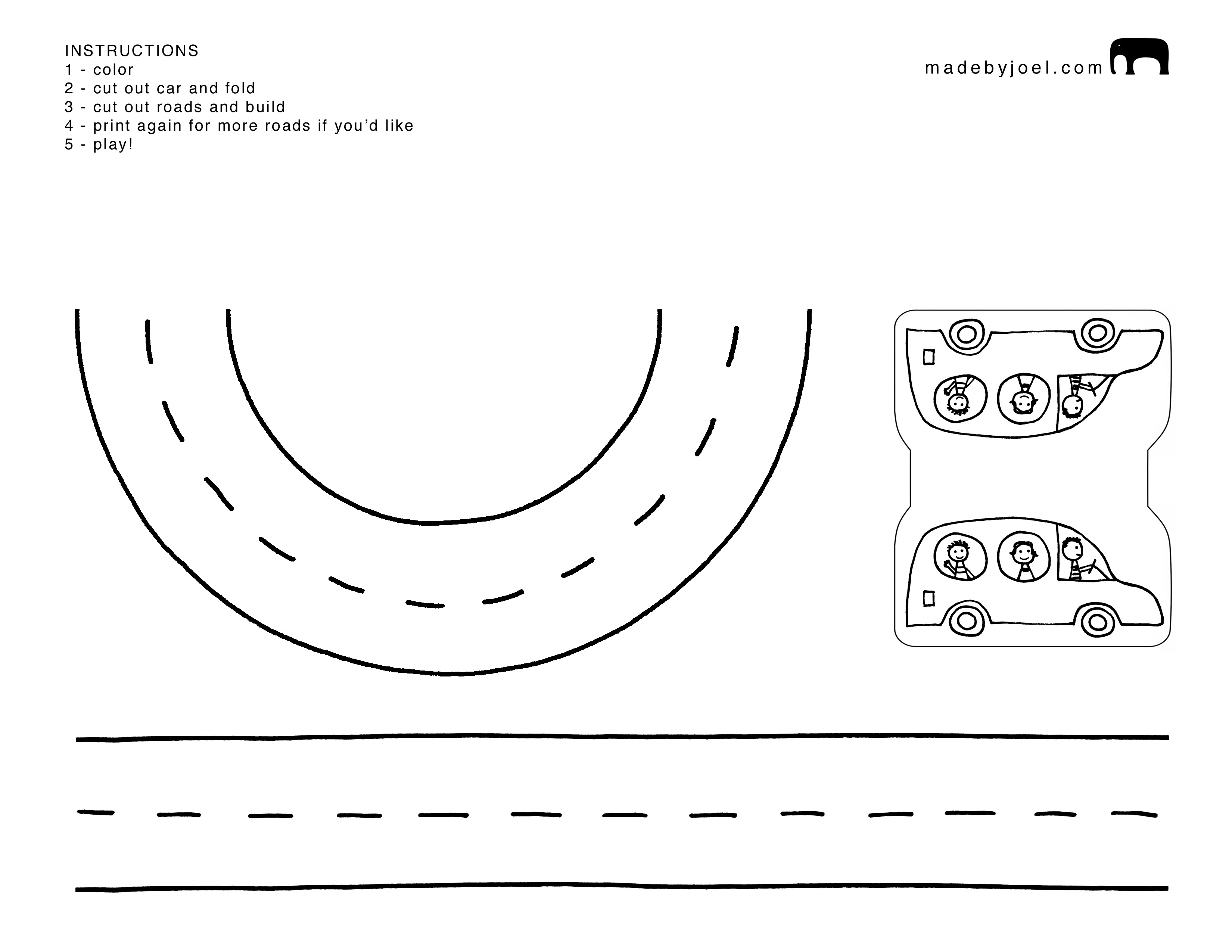 Made By Joel Paper City Road Trip 2 Template Made By Joel