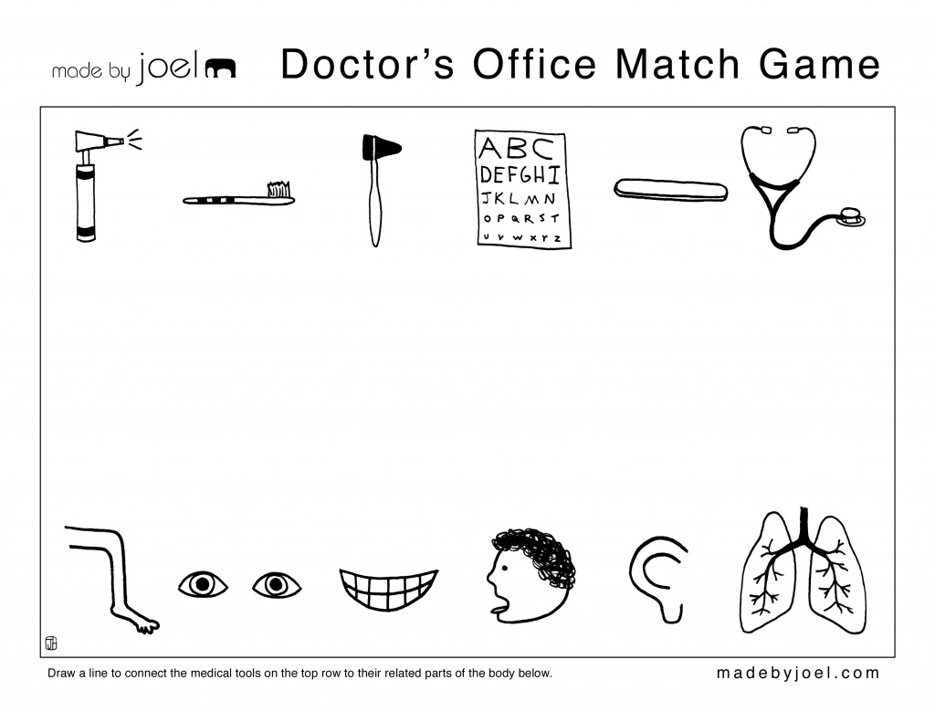Doctor S Office Match Game Made By Joel
