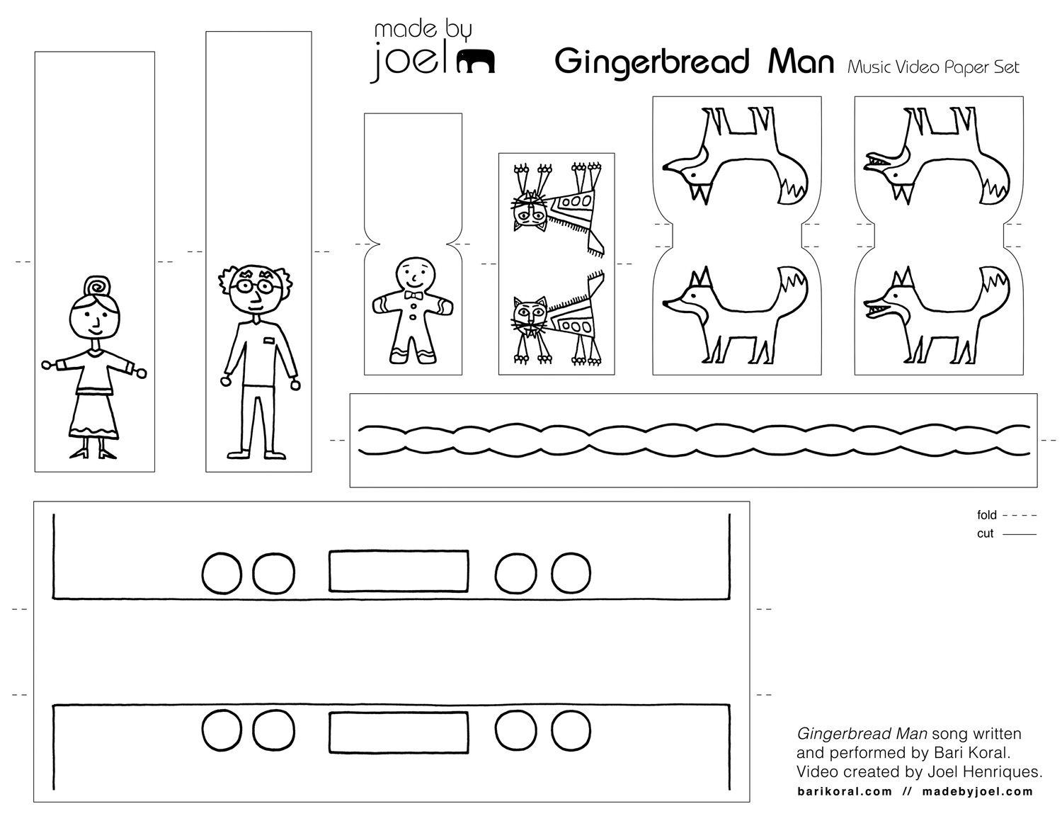 Gingerbread Music Video And Printable Paper Toy Made By Joel