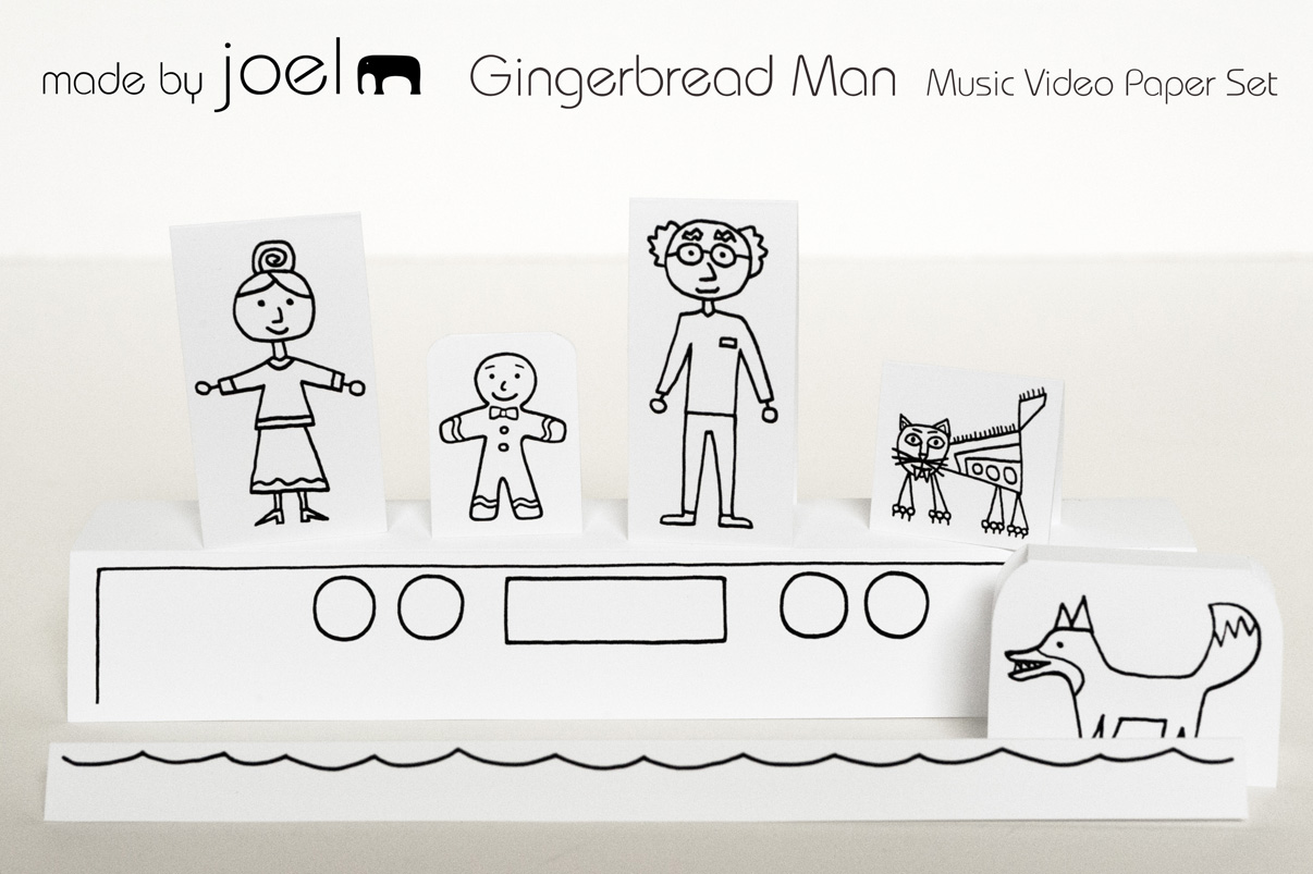 Made By Joel Gingerbread Music Video And Printable Paper Toy