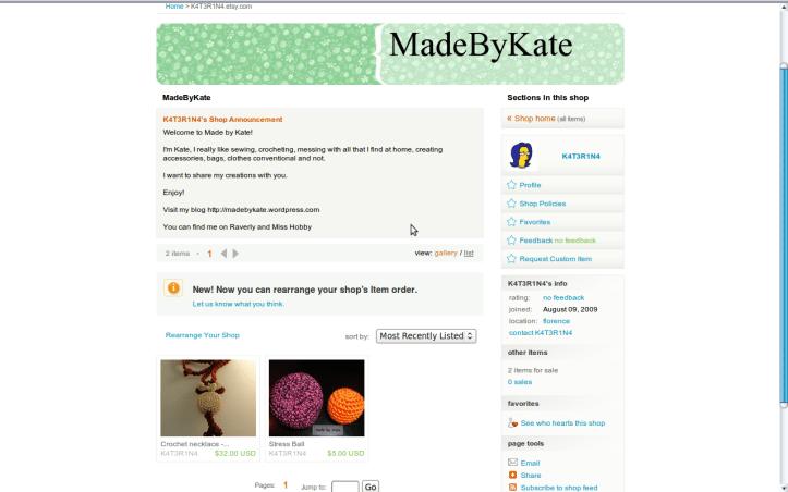 Madebykate shop on etsy