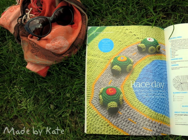 Race turtles crochet uncinetto