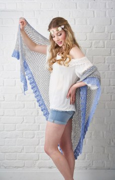 Craft projects crochet on model Georgina from MOT shot in the studio