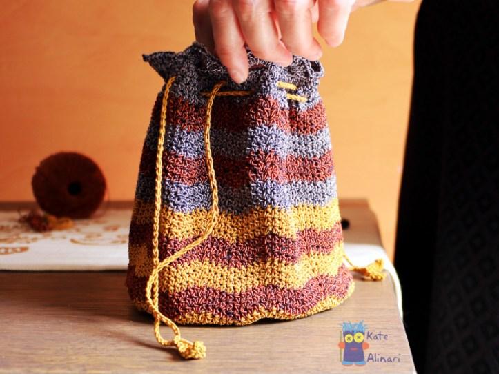 schema uncinetto borsa