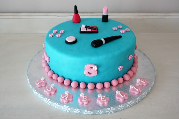 Spa party birthday cake