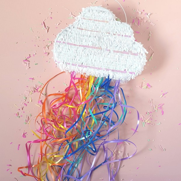 Hand made cloud pinata