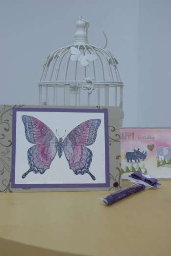 Water colour stamping