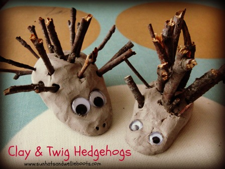 The best autumn crafts for kids - clay hedgehog DIY by Sun Hats and Wellie Boots