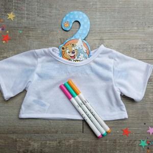 Teddy bear t-shirt decorating kit