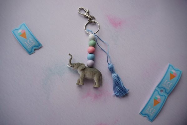 Summer staycation craft kit - Beaded animal keyring with a mini tassel