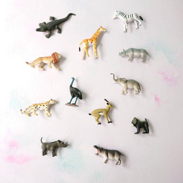 Toy safari animals