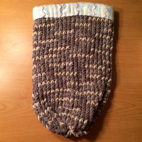 Knit Cocoon Baby Swaddler - $30