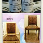 Refinished and Gilded Chair using Annie Sloan Graphite Paint
