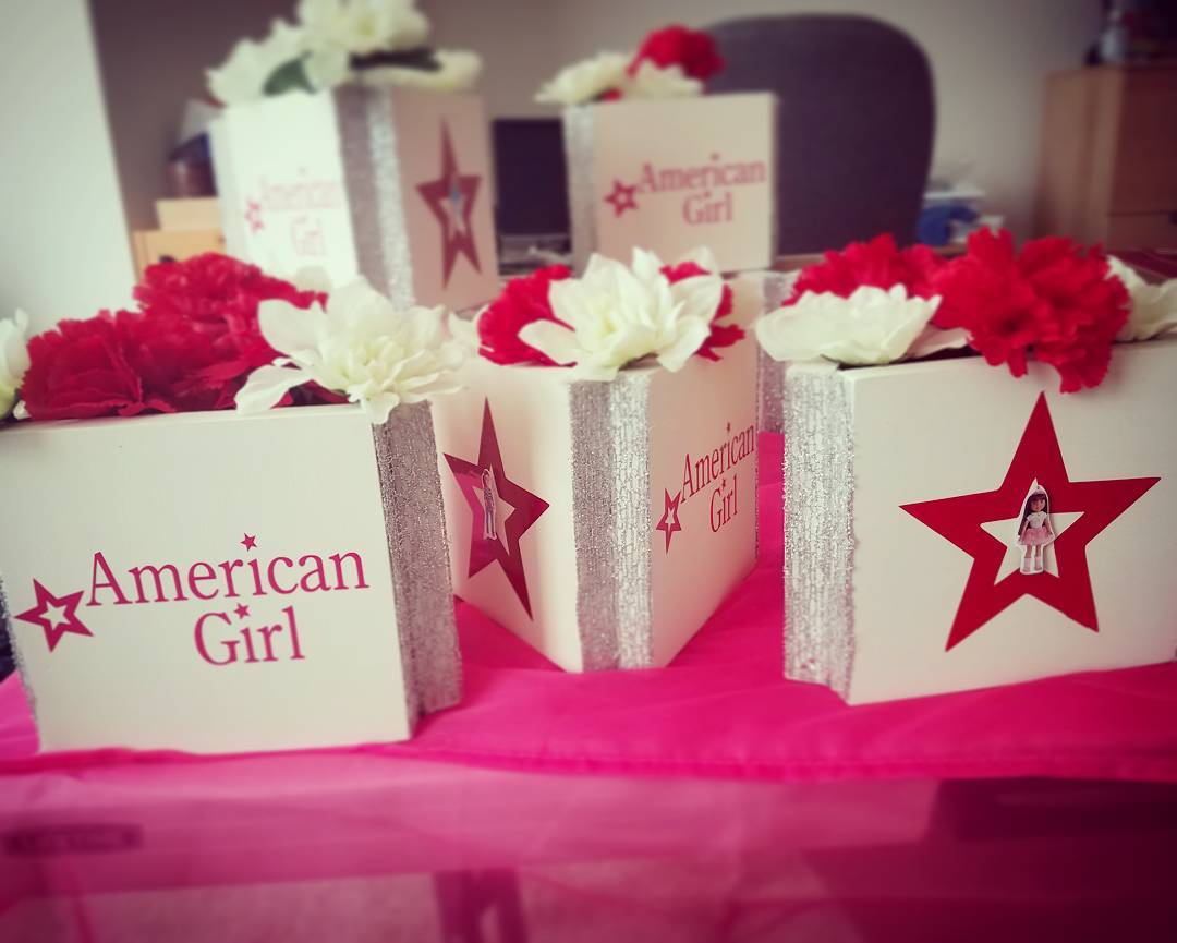 Centerpieces done americangirlinspired americangirlcenterpiece