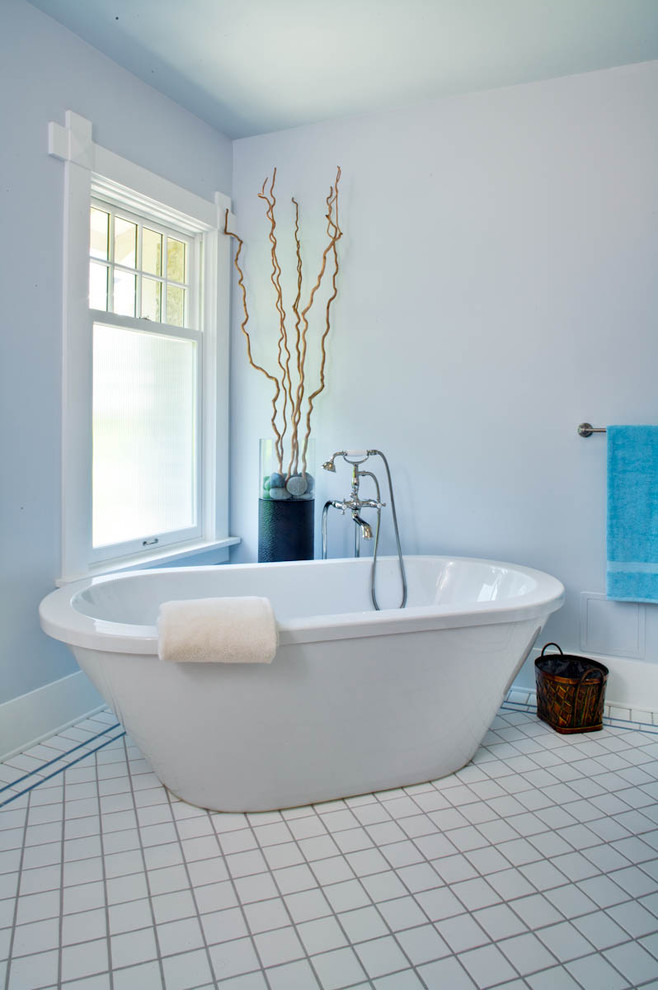 Bright Soaker Tubin Bathroom Traditional With Engaging