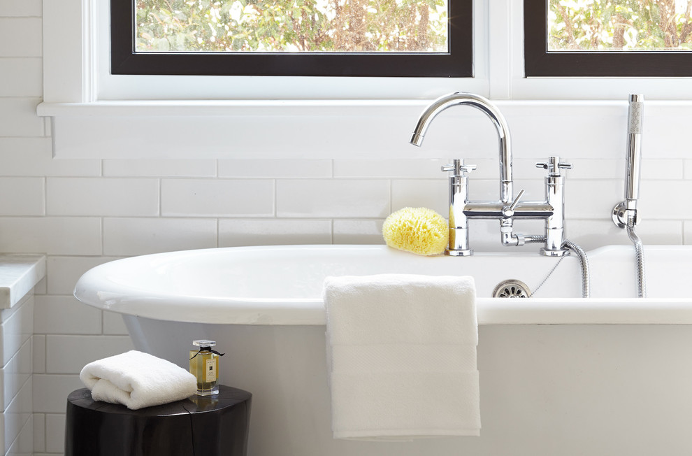 Elegant Freestanding Tubs In Bathroom Transitional With