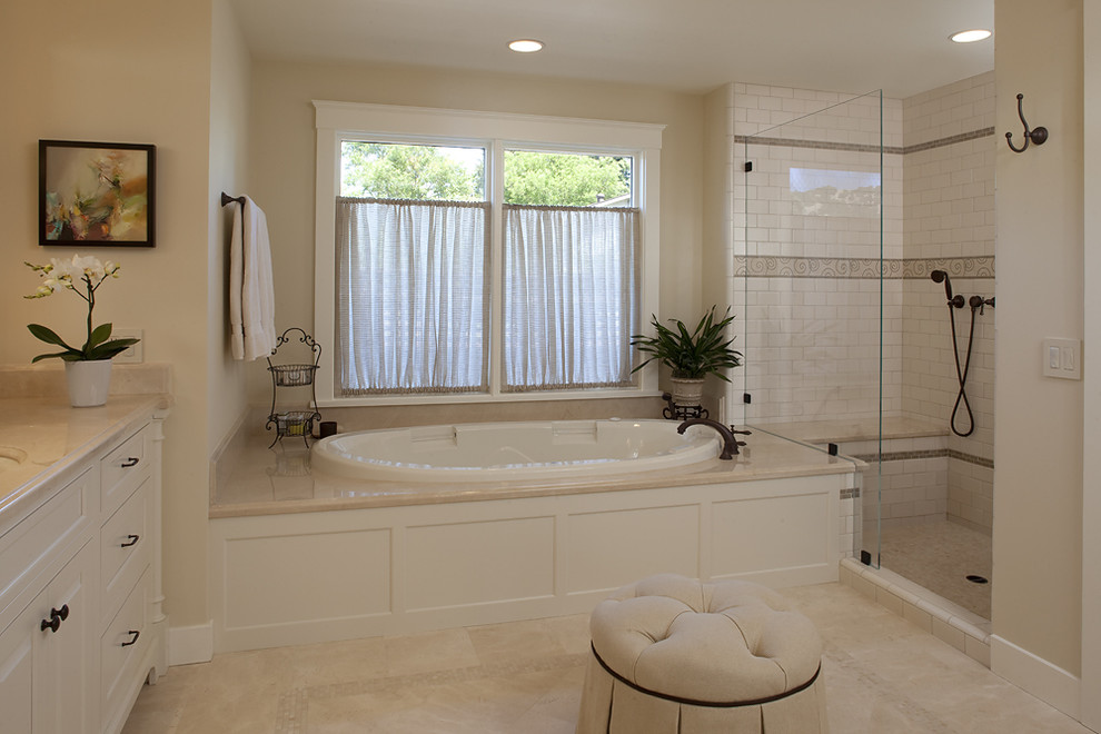 Impressive Tub Transfer Bench In Bathroom Traditional With