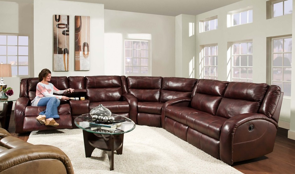 Glamorous Reclining Sectional In Home Theater Traditional With & Custom Sectional Sofas With Recliners | Centerfieldbar.com islam-shia.org