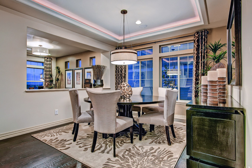 Pretty surya rugs in Dining Room Eclectic with Square Lampshade next to Dark Table Light Chairs alongside Surya Rugs and Pass Through