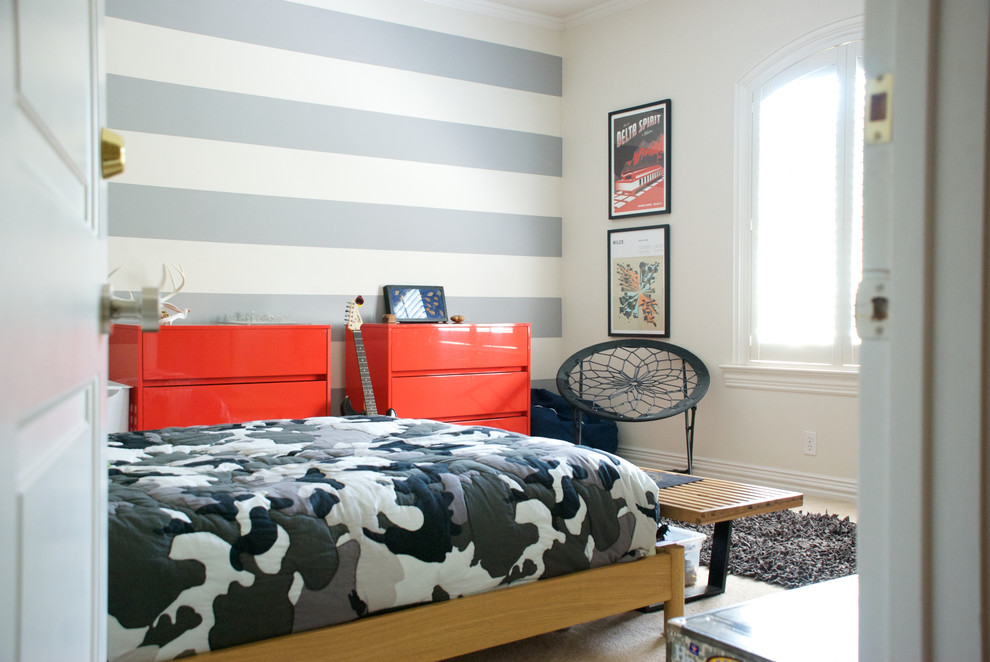 Baroque camo crib bedding in Kids Contemporary with End Of Bed Bench  next to Boy Bedroom  alongside Mint Green Walls  and Boys Room Paint Ideas
