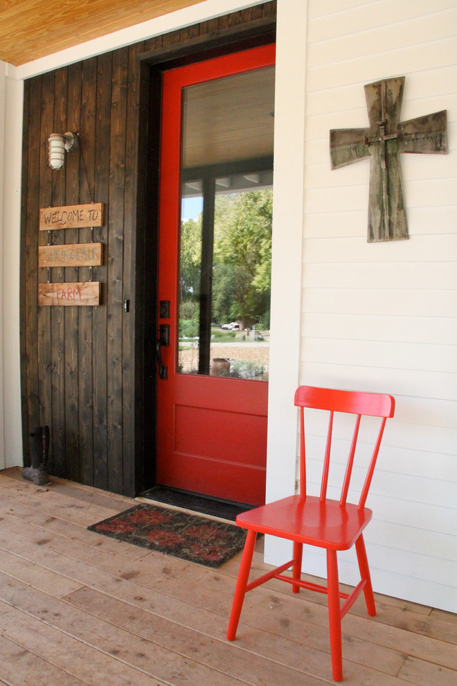 Baroque funny welcome mats in Entry Farmhouse with Obscured Glass  next to Red Front Door  alongside Painted Front Door  and Simpson Door