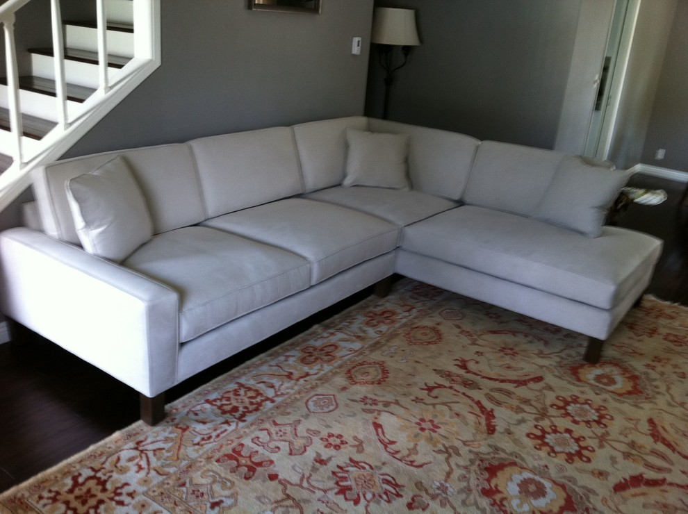 Microfiber Sectional Couch In Family Room Los Angeles With : sectional sofas los angeles - Sectionals, Sofas & Couches