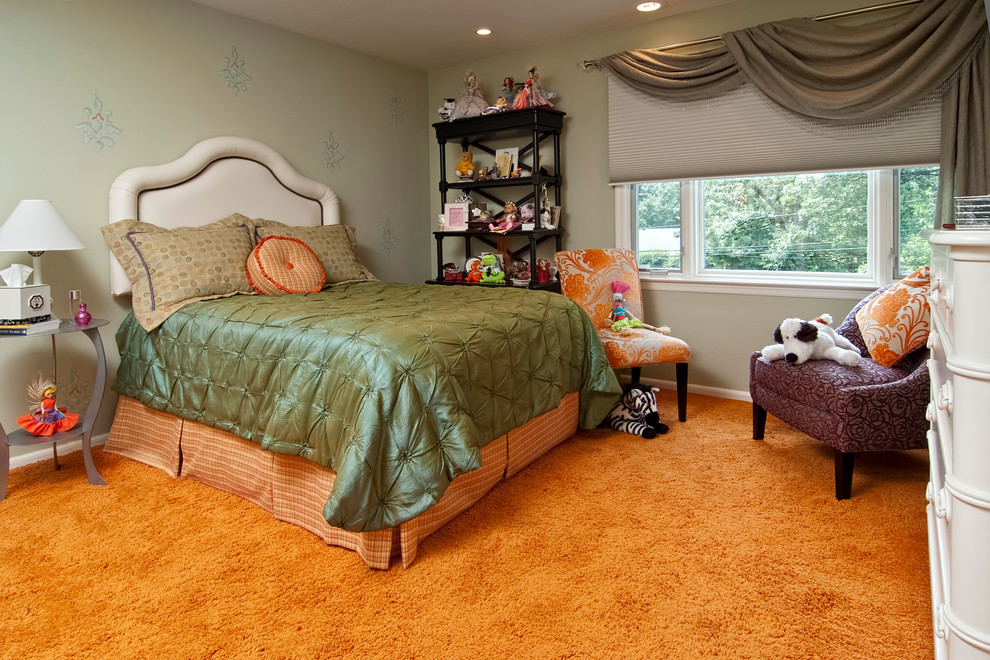 Beautiful bedspreads for teens in Kids Eclectic with Little Girl Room  next to Bedspread  alongside Bedskirt  and Textured Carpet