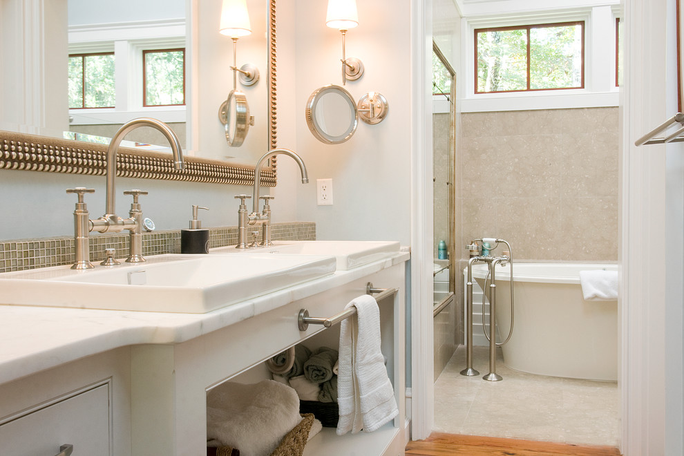 Beautiful Lighted Magnifying Mirror In Bathroom