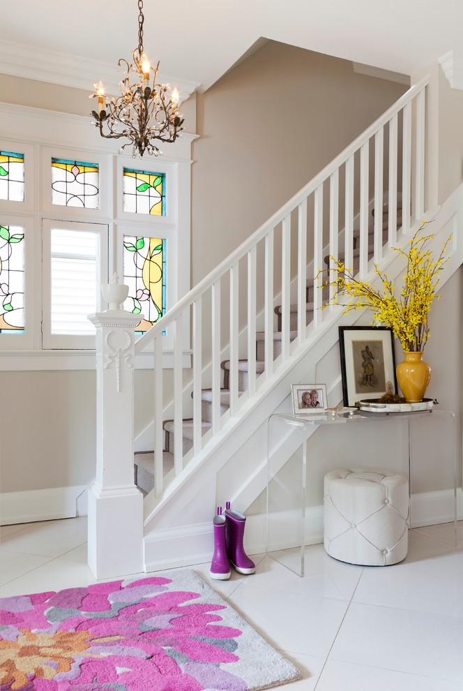 stair railing and carpet stairs