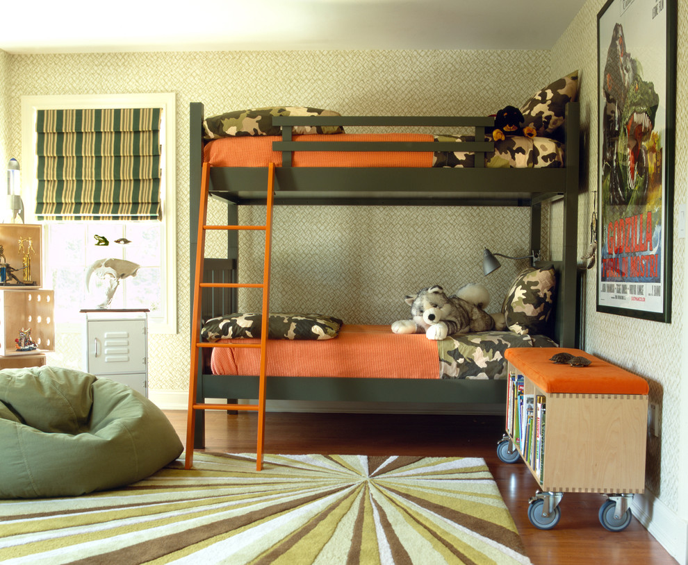 Bright camo crib bedding in Kids Eclectic with Adult Bean Bag Chairs  next to Ottoman Ideas  alongside Kid Room Colors  and Storage Bench