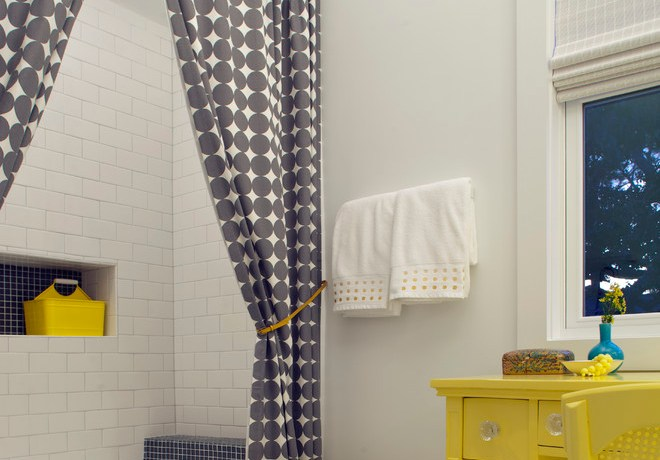 Cool croscill shower curtains in Bathroom Beach Style with Bathroom Paint Color next to Bathroom Shower Ideas alongside White Subway Tile Bathroom and Showers Without Doors