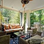 Cool porch glider in Porch Traditional with Curtains Over Vertical Blinds next to Curtain Ideas alongside Ceiling Decoration and Ceiling Mounted Curtain