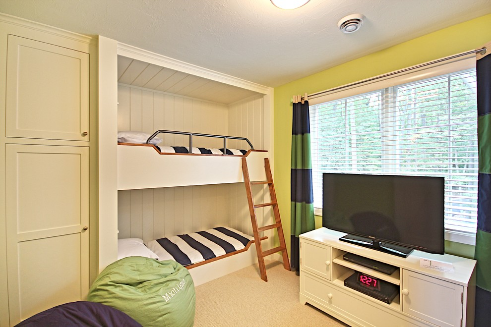Dazzling Bunk Bed With Desk Underneath In Kids Traditional