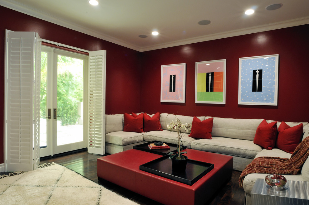 Dazzling cork underlayment in Home Theater Contemporary with  next to N  alongside F# and A