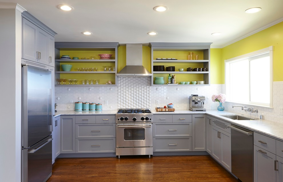 Dazzling kidkraft retro kitchen in Kitchen Contemporary with Open Shelves  next to Painted Kitchen Cabinets  alongside Painted Brick Ideas  and Kitchen Cabinet Knob Placement