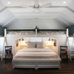 Glamorous king size sleigh bed in Bedroom Beach Style with Add Pergola To Existing Deck next to Kids Room With Two Beds alongside Bonus Room and Loft Ladder