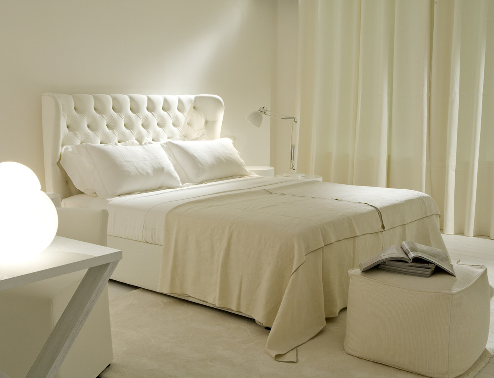 Glamorous Tufted Headboards In Bedroom Transitional With