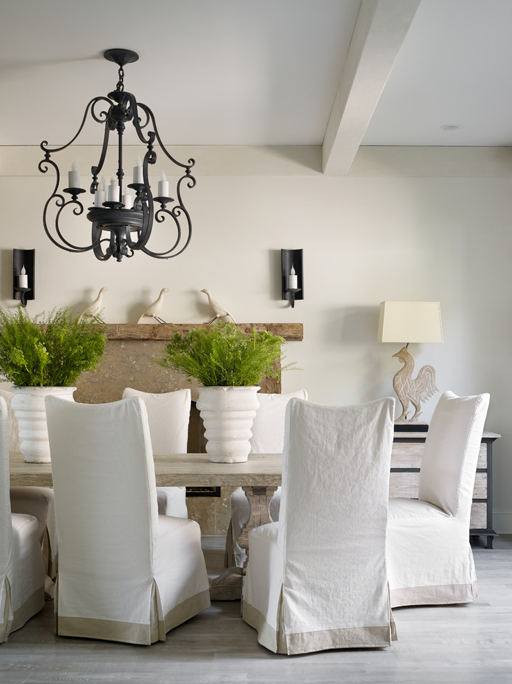 Good Looking Chair Slipcover In Dining Room Transitional