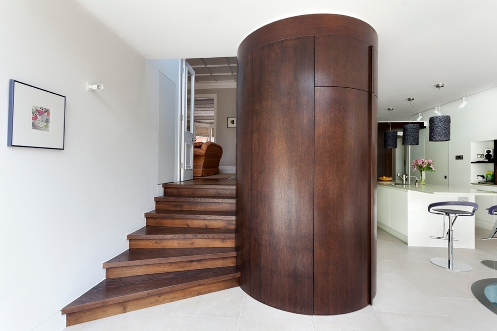 Good Looking Toilet Riser In Staircase Contemporary With West | Curved Staircase Design Plans | Slightly Curved | Stainless Steel | Wood | House | Curved Stairway