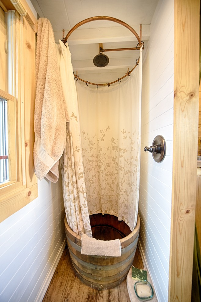 Gorgeous Double Shower Curtain Rod In Bathroom Rustic With