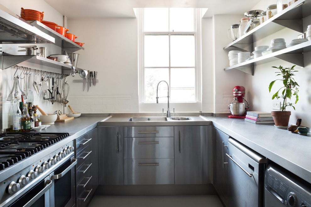 Innovative stainless steel griddle in Kitchen Scandinavian with Ikea Farmhouse Sink  next to Modern Steel Gate  alongside Kitchen Curtain Ideas  and U-shaped House Ideas