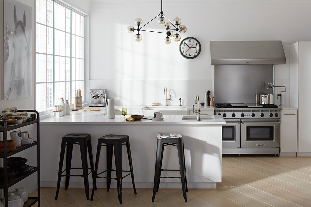 Innovative swivel counter stools in Spaces Industrial with  next to Kohler Whitehaven  alongside Bar Sink And Faucet and Bar Sink Faucet
