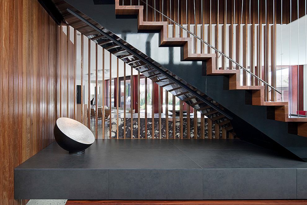 Inspired stainless steel griddle in Staircase Contemporary with Open Staircase Ideas  next to Handrail  alongside Front Wall Gate  and Underground Garage