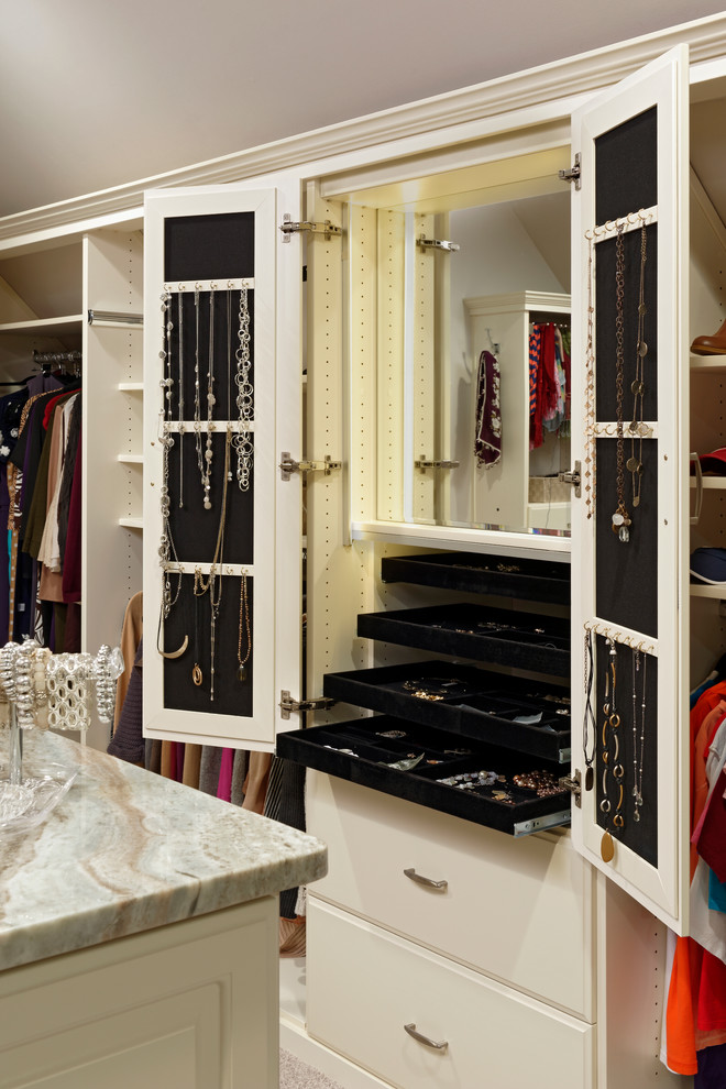 Inspired Standing Mirror Jewelry Armoire In Closet