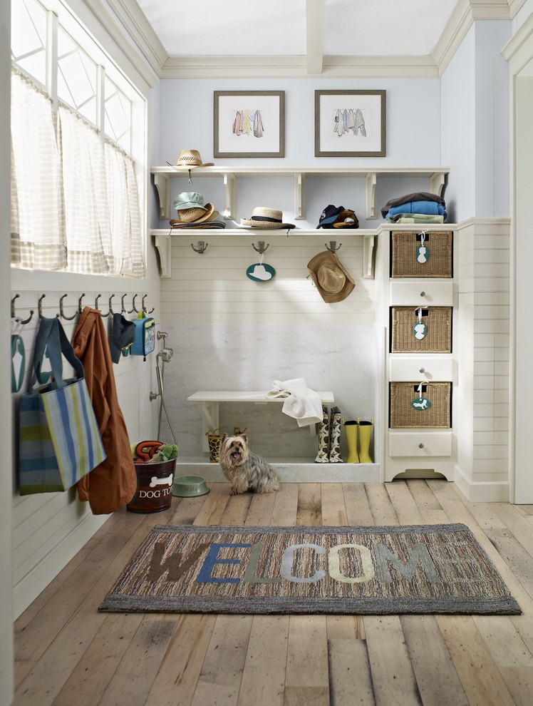 Magnificent funny welcome mats in Entry Farmhouse with Dog Grooming Tub  next to Dog Wash Area  alongside Dog Shower  and Enclosed Front Porch